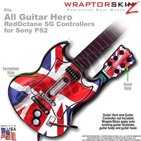 Union Jack 01 WraptorSkinz TM Skin fits All PS2 SG Guitars Controllers (GUITAR N