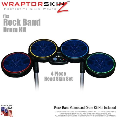Abstract 01 Blue Skin by WraptorSkinz? fits Rock Band Drum Set for Nintendo Wii,