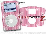 Flowers and Stripes Pink iPod Tune Tattoo Kit (fits 4th Gen iPods)