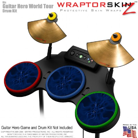 Abstract 01 Blue Skin by WraptorSkinz? fits Guitar Hero 4 World Tour Drum Set fo