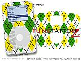 Argyle Green and Yellow iPod Tune Tattoo Kit (fits 4th Gen iPods)