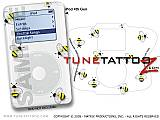 Bumble Bees on White iPod Tune Tattoo Kit (fits 4th Gen iPods)