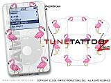 Flamingos on White iPod Tune Tattoo Kit (fits 4th Gen iPods)