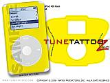 Solid Colors Yellow iPod Tune Tattoo Kit (fits 4th Gen iPods)