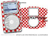 Checkered Canvas Red -n- White iPod Tune Tattoo Kit (fits 4th Gen iPods)