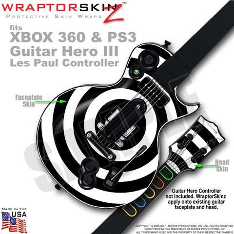 Guitar Hero III Les Paul Guitars XBOX 360 PS3 Skins   WraptorSkinz