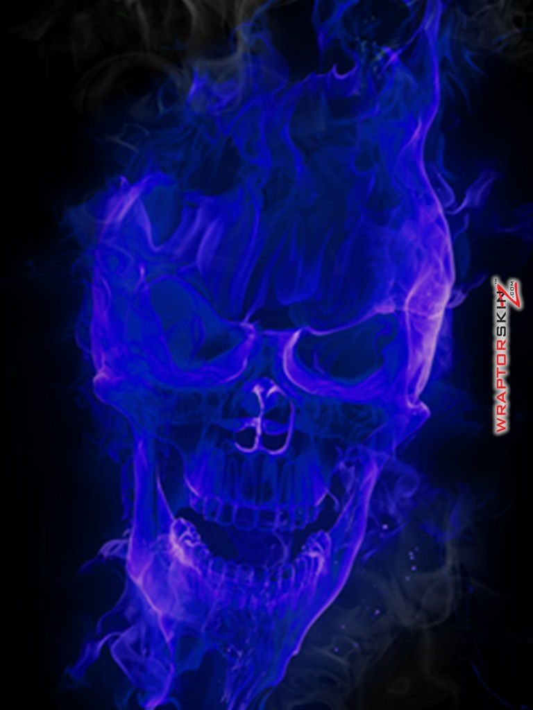 blue flames skull flame - photo #14