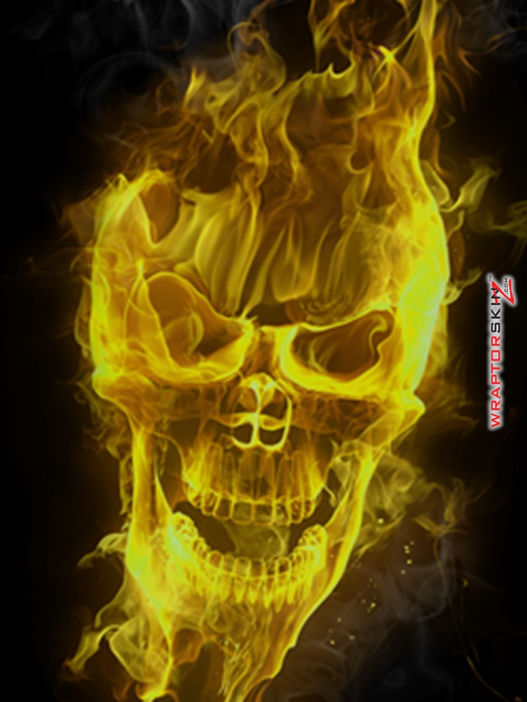 Flaming_Fire_Skull_Yellow_51_ ...
