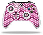 Zig Zag Pinks - Decal Style Skin fits Microsoft XBOX One S and One X Wireless Controller