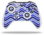 Skin Wrap for Microsoft XBOX One S / X Controller Zig Zag Blues