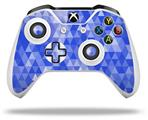 Skin Wrap for Microsoft XBOX One S / X Controller Triangle Mosaic Blue