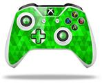 Skin Wrap for Microsoft XBOX One S / X Controller Triangle Mosaic Green