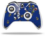 Anchors Away Blue - Decal Style Skin fits Microsoft XBOX One S and One X Wireless Controller