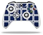 Skin Wrap for Microsoft XBOX One S / X Controller Squared Navy Blue
