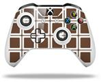 Squared Chocolate Brown - Decal Style Skin fits Microsoft XBOX One S and One X Wireless Controller