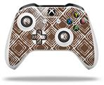 Skin Wrap for Microsoft XBOX One S / X Controller Wavey Chocolate Brown