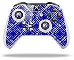 Wavey Royal Blue - Decal Style Skin fits Microsoft XBOX One S and One X Wireless Controller