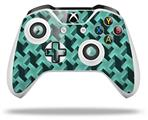 Skin Wrap for Microsoft XBOX One S / X Controller Retro Houndstooth Seafoam Green