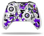 Sexy Girl Silhouette Camo Purple - Decal Style Skin fits Microsoft XBOX One S and One X Wireless Controller