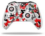 Sexy Girl Silhouette Camo Red - Decal Style Skin fits Microsoft XBOX One S and One X Wireless Controller