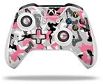 Sexy Girl Silhouette Camo Pink - Decal Style Skin fits Microsoft XBOX One S and One X Wireless Controller