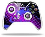Halftone Splatter Blue Hot Pink - Decal Style Skin fits Microsoft XBOX One S and One X Wireless Controller