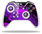 Skin Wrap for Microsoft XBOX One S / X Controller Halftone Splatter Hot Pink Purple