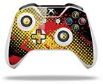 Skin Wrap for Microsoft XBOX One S / X Controller Halftone Splatter Yellow Red
