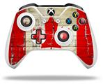 Skin Wrap for Microsoft XBOX One S / X Controller Painted Faded and Cracked Canadian Canada Flag