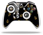 Anchors Away Black - Decal Style Skin fits Microsoft XBOX One S and One X Wireless Controller