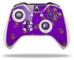 Anchors Away Purple - Decal Style Skin fits Microsoft XBOX One S and One X Wireless Controller