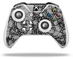 Skin Wrap for Microsoft XBOX One S / X Controller Scattered Skulls Gray