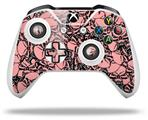 Skin Wrap for Microsoft XBOX One S / X Controller Scattered Skulls Pink
