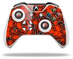 Skin Wrap for Microsoft XBOX One S / X Controller Scattered Skulls Red