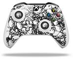 Skin Wrap for Microsoft XBOX One S / X Controller Scattered Skulls White