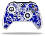 Scattered Skulls Royal Blue - Decal Style Skin fits Microsoft XBOX One S and One X Wireless Controller
