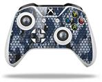 Skin Wrap for Microsoft XBOX One S / X Controller HEX Mesh Camo 01 Blue