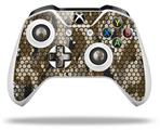 HEX Mesh Camo 01 Brown - Decal Style Skin fits Microsoft XBOX One S and One X Wireless Controller