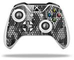 Skin Wrap for Microsoft XBOX One S / X Controller HEX Mesh Camo 01 Gray