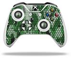 HEX Mesh Camo 01 Green - Decal Style Skin fits Microsoft XBOX One S and One X Wireless Controller