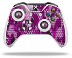 Skin Wrap for Microsoft XBOX One S / X Controller HEX Mesh Camo 01 Pink