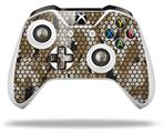 HEX Mesh Camo 01 Tan - Decal Style Skin fits Microsoft XBOX One S and One X Wireless Controller