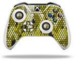 Skin Wrap for Microsoft XBOX One S / X Controller HEX Mesh Camo 01 Yellow