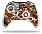WraptorCamo Digital Camo Burnt Orange - Decal Style Skin fits Microsoft XBOX One S and One X Wireless Controller