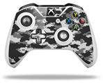 WraptorCamo Digital Camo Gray - Decal Style Skin fits Microsoft XBOX One S and One X Wireless Controller