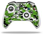 WraptorCamo Digital Camo Green - Decal Style Skin fits Microsoft XBOX One S and One X Wireless Controller