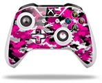 WraptorCamo Digital Camo Hot Pink - Decal Style Skin fits Microsoft XBOX One S and One X Wireless Controller