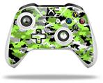 WraptorCamo Digital Camo Neon Green - Decal Style Skin fits Microsoft XBOX One S and One X Wireless Controller