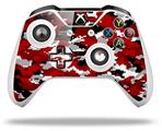 WraptorCamo Digital Camo Red - Decal Style Skin fits Microsoft XBOX One S and One X Wireless Controller