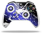 Halftone Splatter White Blue - Decal Style Skin fits Microsoft XBOX One S and One X Wireless Controller